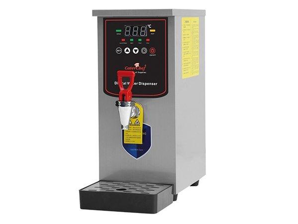 Caterchef Heetwaterapparaat met Aftapkraan en Lekbak | 185x365x(h)520mm | 25 liter Per uur