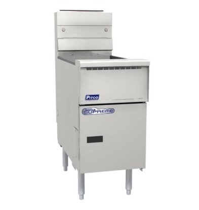 Pitco Friteuse Gas Solid State | Pitco Solstice Supreme SSH55 | 23kW | Olie 23Kg | 75Kg/u | 397x875x864(h)mm