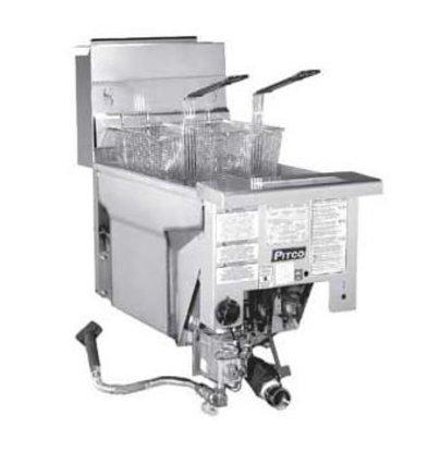 Pitco Drop-in Gas Fryer Milivolt | Pitco Solstice SG14DI | 32kW | Oil 23kg | 60kg / h | 397x817mm
