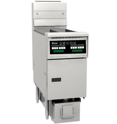 Pitco Friteuse Gas Computer | Pitco Solstice SG14TS | 15kW | Olie 11Kg | 60Kg/u | 397x864x864(h)mm