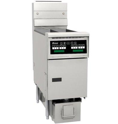 Pitco Fryer Gas Computer | Pitco Solstice SG14TS | 15kW | Oil 11kg | 60kg / h | 397x864x864 (h) mm