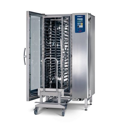 Leventi Combisteamer ME 1.20 BDI Roll-in | 20x/15x EN 40x60 of GN1/1 | 36kW | Incl. Onderstel en Trolley | 899x831x1852(h)mm