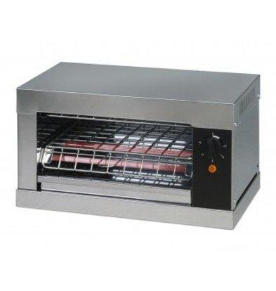 Saro Toaster enkel 1 klem met tijdschakelaar en kruimelblik - 44x26x(H)25cm - 2000W