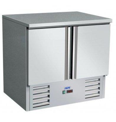 Saro Cool Workbench - SS - 2 Doors - 90x70x (h) 85 / 88cm