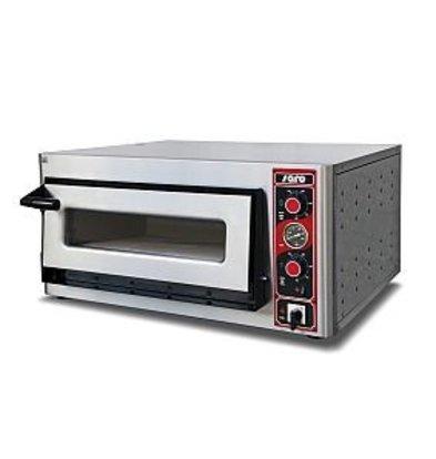 Saro Pizza Oven Elektrisch Enkel   4 Pizza's Ø30cm   400V   5kW   890x710x(H)440mm
