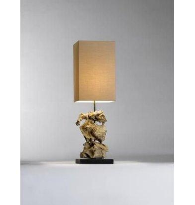 Saro Table Lamp Series Zenjoy | Model MAGENA | Wood / Cotton | 40W | 220x220x (H) 715mm