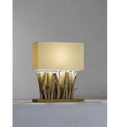 Saro Table Lamp Series Zenjoy | Model PACO | Wood / Cotton | 40W | 400x200x (H) 495mm