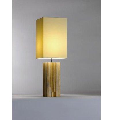 Saro Table Lamp Series Zenjoy | Model Halona | Wood Cotton | 40W | 220x220x (H) 675mm