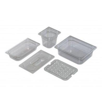 Saro GN 1/3 - D 100mm polycarbonaat, transparant | 325x176mm