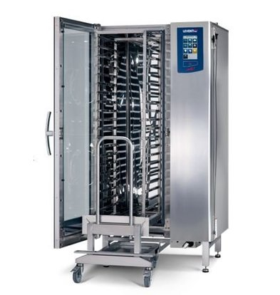 Leventi Combisteamer ME 1.20 BDI Roll-in | Gas 42kW | 20x/15x EN 40x60 of GN1/1 | Incl. Onderstel en Trolley | 899x831x1852(h)mm
