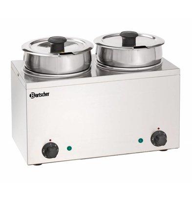 Bartscher Hotpot | Bain Marie | 2x3,5 Liter | Stainless steel | 0,30kW | 415x210x (H) 320mm