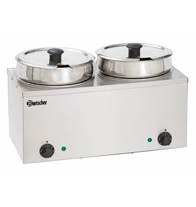 Bartscher Hotpot | Bain-Marie | Stainless steel | 2x6,5 Liter | 505x280x (H) 320mm