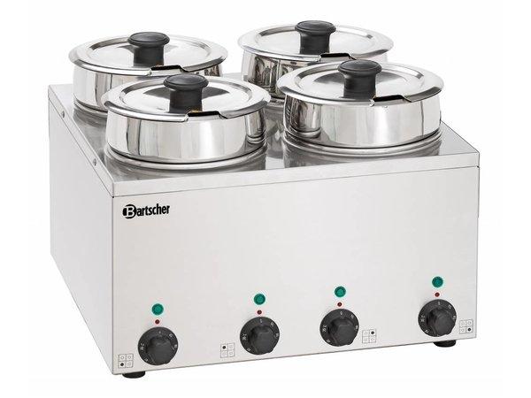 Bartscher Hotpot | Bain-Marie | 4x3,5 Liter | 0,60kW | 415x415x(H)320mm