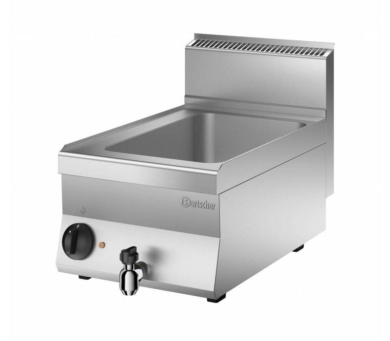 Bartscher Elektrische Bain-Marie   1/1 GN   150mm diep   Met Wateraftapkraan   400x650x(H)295mm