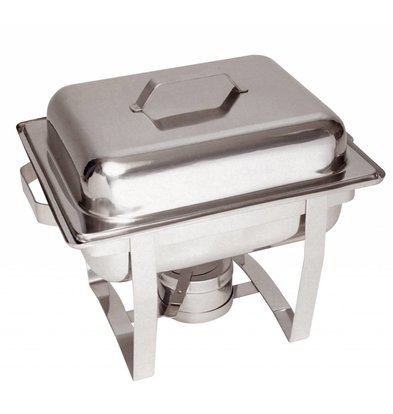 Bartscher MINI Chafing Dish | Chroomnikkelstaal | 1/2 GN | 65mm diep | 375x290x(H)320mm