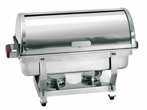Bartscher Chafing Dish | 1/1 GN | Met Roldeksel | Deluxe | 620x350x(H)430mm
