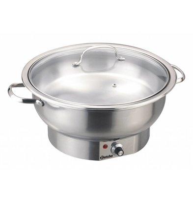 Bartscher Electric Chafing Dish | Chrome nickel steel | Around | 3.8 Liter | Adjustable thermostat | 330x (H) 220mm