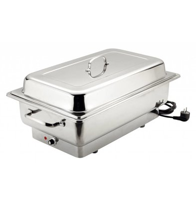 Bartscher Electric Chafing Dish | Chrome nickel steel | 1 / 1GN | Delluxe | 623x356x (H) 285mm