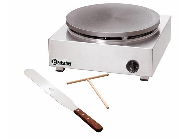 Bartscher Professionele Crepemaker op Gas | Enkel | 6 kW | 40 cm diameter + Schraper