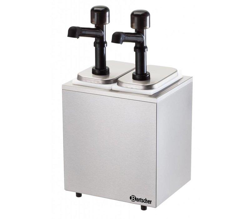 Bartscher Complete sausdispencer met 2 pompen - 2 x 3,3 Liter