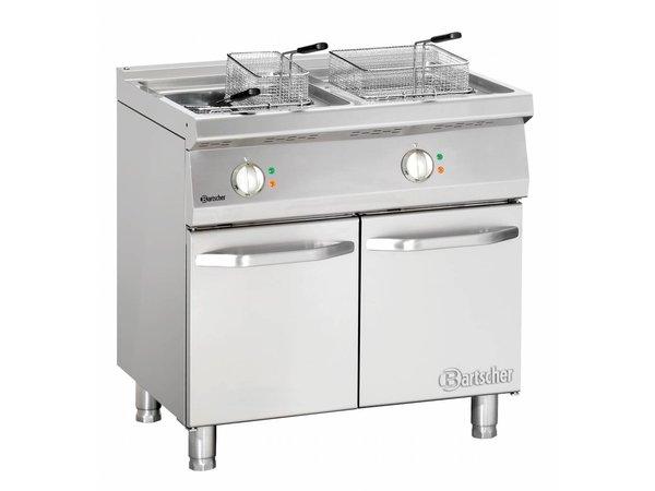 Bartscher Friteuse | Elektrisch | 2 x 15 Liter | 400V | 30kW | Met Onderstel | 800x700x(h)850-900 mm