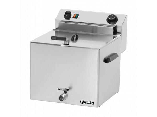 Bartscher Elektrische Friteuse PRO | 10 Liter | Met Aftapkraan | 8,1kW | 400V | 390x450x(H)375mm