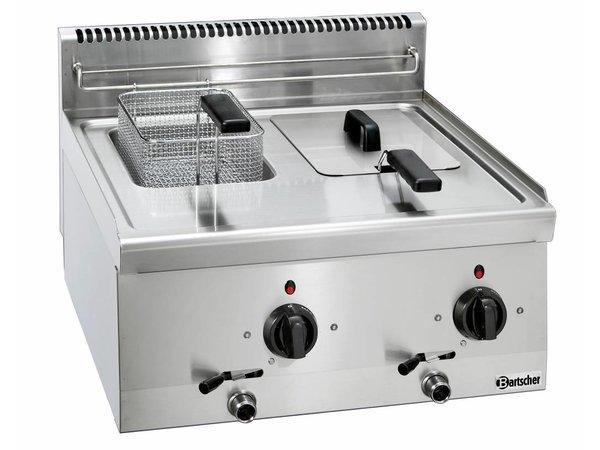 Bartscher Elektrische Friteuse | Vast Element | 2 x 6L | Serie 600 | 400V | 6,6kW | 600x600x(H)290mm