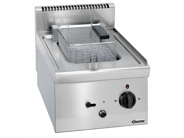 Bartscher Elektrische Friteuse | 8L | Serie 600 | Uitklapbaar Element | 400V | 6,3kW | 400x600x(H)290mm
