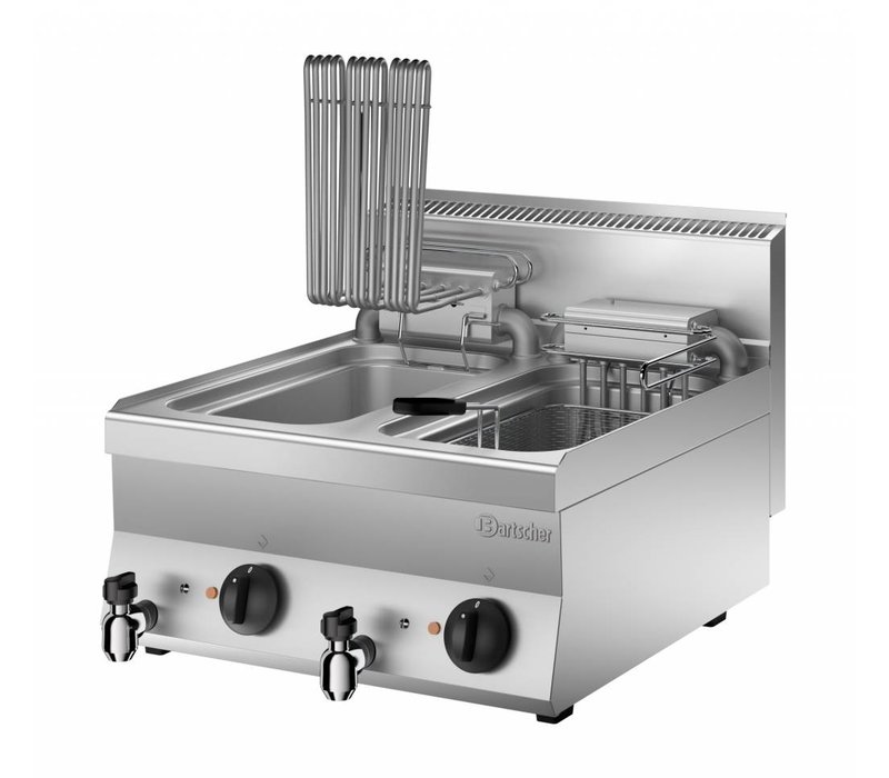 Bartscher Friteuse Elektrisch | Uitklapbaar Element | 400V | 18kW | 2x10 Liter | 600x650x(H)295mm