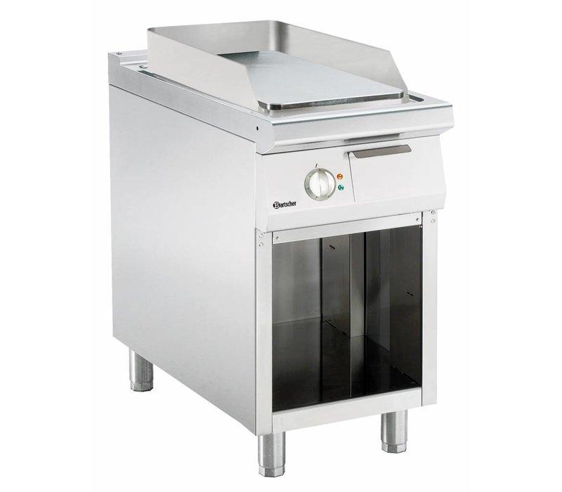 Bartscher Elektrische bakplaat - Glad - 45x90x(h)85/90cm - Open onderbouw - 400V/6,6kW