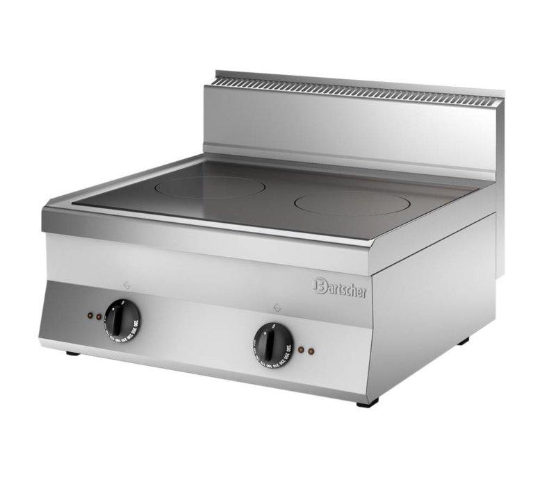 Bartscher Inductie Kooktoestel met 2 Zones | 400V | 10kW | 700x650x(H)295 mm