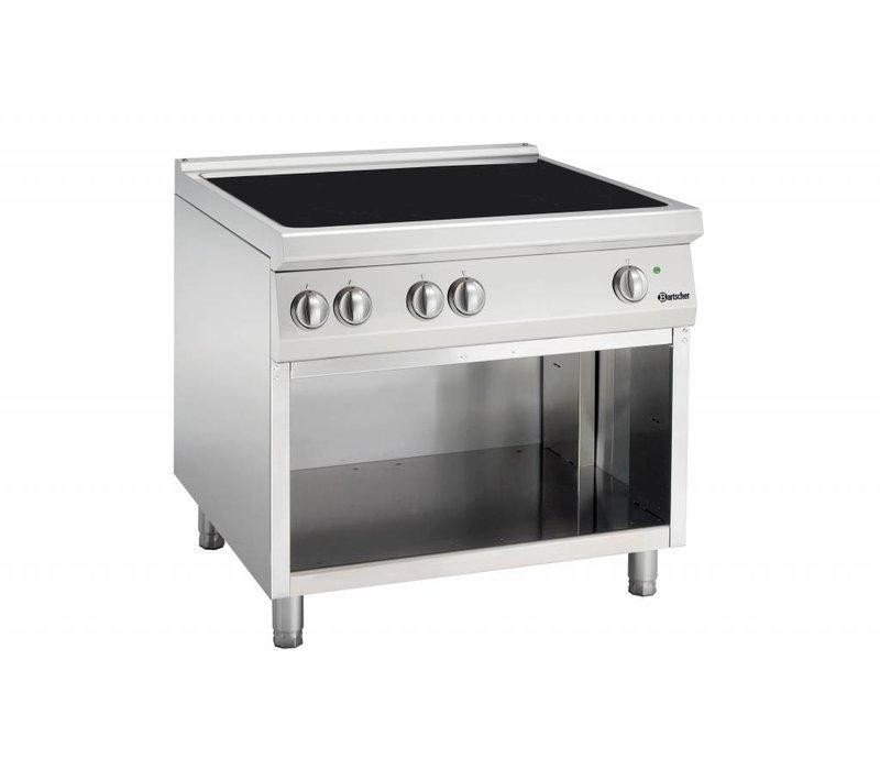Bartscher Inductie Kooktoestel met 4 Kookzones Serie 900   400V   20kW   900x900x(H)850-900mm
