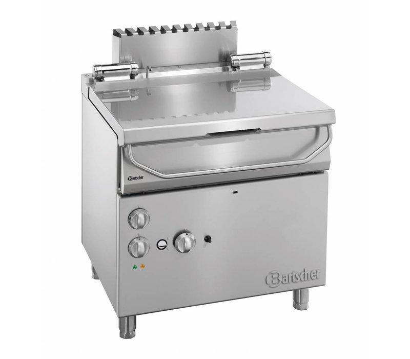 Bartscher Kantelbare Braadpan Gas | Serie 700 | Elektrisch kantelwiel | 12kw | 230V | 800x700x(H) 850-900mm