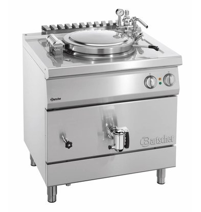 Bartscher Electric Boiling Pan Indirect Heating - 55L - 800x700x (h) 850-900mm - 12KW