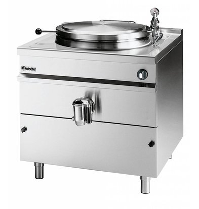 Bartscher Electric Boiling Pan Indirect Heating - 500L - 1150x1300x (h) 1030mm - 36KW