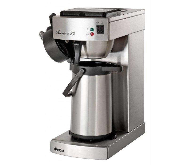 Bartscher Koffiemachine Aurora 22 | Chroomnikkelstaal | Inhoud 2 Liter | 2kW | 215x405x(H)520mm