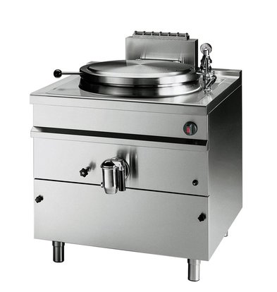 Bartscher Gas Indirect Boiling Pan Heating - 150L - 900x900x (h) 900mm - 21KW