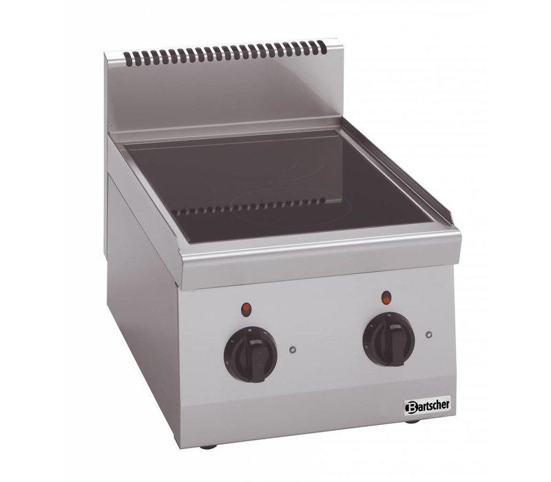 Bartscher Keramisch Kooktoestel | Met 2 zones | Serie 600 | 4,3 kw | 400x600x(H)290 mm