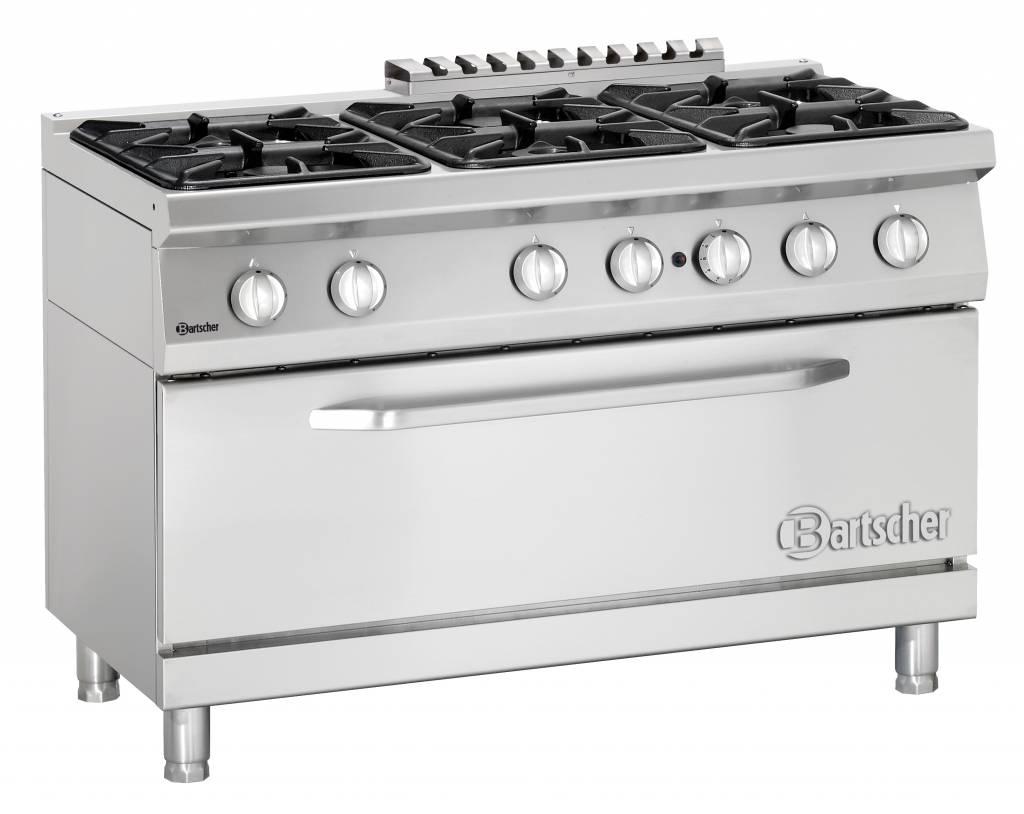 Verwonderend 6 pits gasfornuis + GROTE oven? Bartscher 2852261   XXLhoreca RL-45