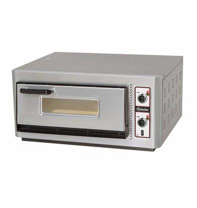 Bartscher Pizza Oven Enkel Elektrisch   4 Pizza's Ø30cm   400V   5kW   910x810x(H)440mm