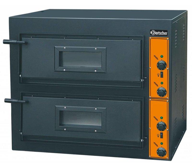 Bartscher Pizza Oven Dubbel Elektrisch | 2 x 4 Pizza's Ø30cm | 380V | 8,4kW | 890x860x(H)760mm