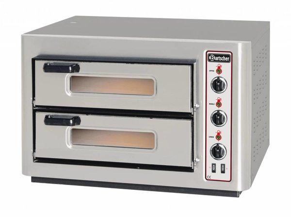 Bartscher Pizza Oven Dubbel Elektrisch | 2x4 Pizza's Ø25cm | 400V | 6kW | 800x735x(H)520mm