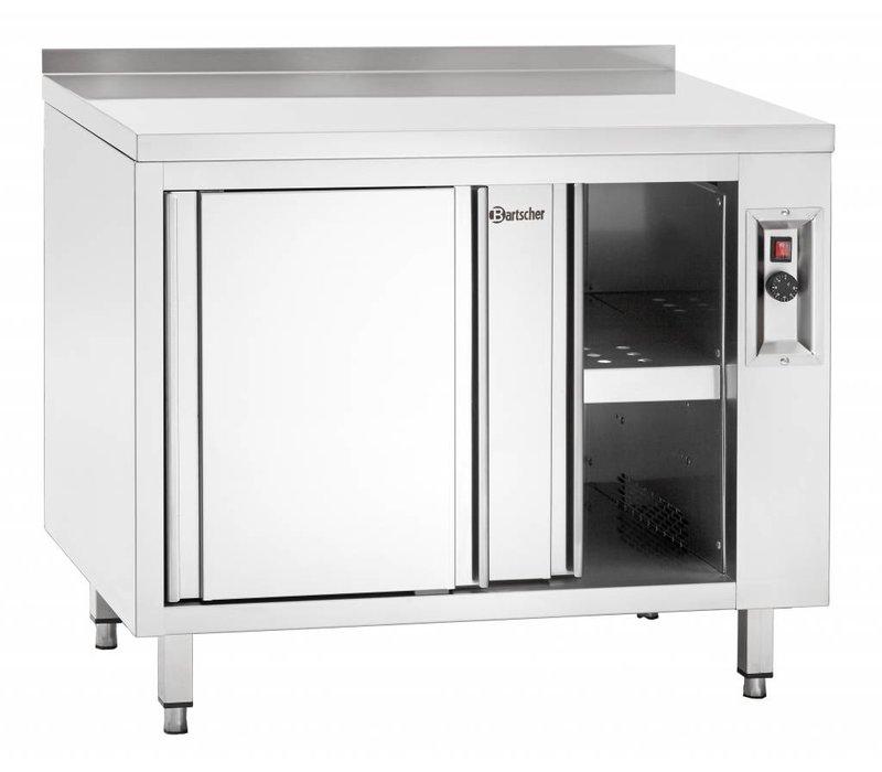 Bartscher Warmkast met Schuifdeuren en Tussenschap - 100x70x(h)85/90cm