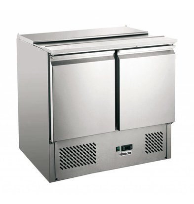 Bartscher Saladette - geforceerde koeling - 90x70x(h)88cm - 250 Ltr.
