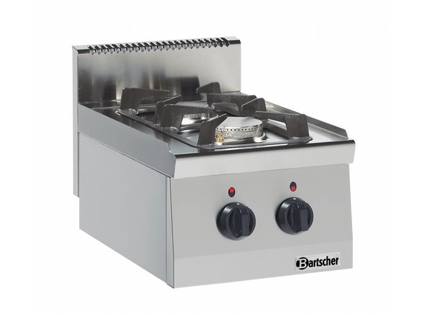 Bartscher 2-pits gaskooktoestel Serie 600 | 3,5KW - 6 KW | 400x600x(h)290mm