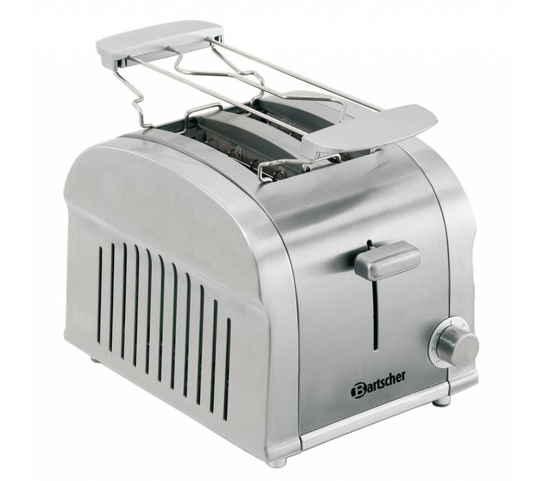 Bartscher 2 sneden toaster met uitneembare kruimellade - 19x26,5x(H)19,5 cm - 850W
