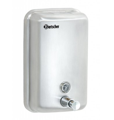 Bartscher Soap dispenser Stainless steel - 123x110x (h) 204mm - Universal for all kinds of soap - 1000ml - XXL OFFER!