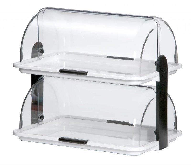 Bartscher Dubbele buffetvitrine | Kunststof | Plexiglas | 470x315x(H) 415 mm