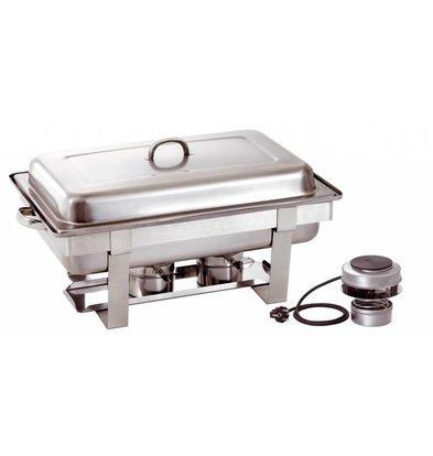 Bartscher Elektrische Chafing Dish | Chroomnikkelstaal | 1/1 GN | Incl. Verwarmingselement | 610x350x(H)320mm
