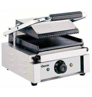 Bartscher Elektrische contact grill - Geribd/Glad - 29x37x(h)20 - 1800W
